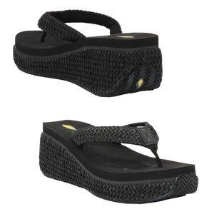 Volatile island platform wedge sandals